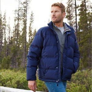 L.L. Bean Down Puffer zip up jacket Large